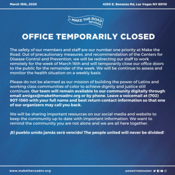 OFFICE TEMPORARILY CLOSED : COVID-19